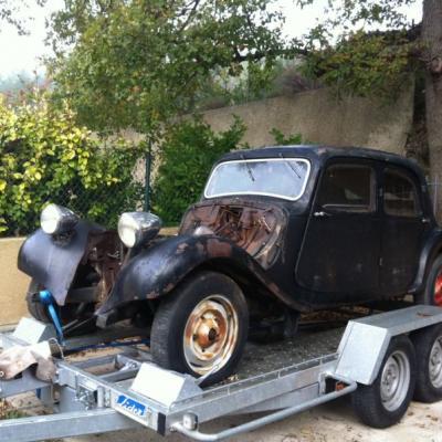 Exemple de restauration d'une des voitures de notre club